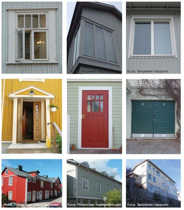 Ikkunoita ja ovia